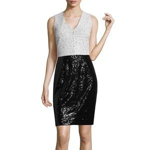 Nicole Miller Dresses - NWT Nicole Sequin Black White Cocktail Dress
